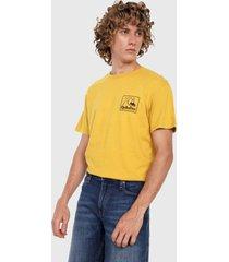 camiseta amarillo-negro quiksilver beach tones