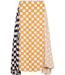 daniela, 1108 checks mix knälång kjol multi/mönstrad stine goya