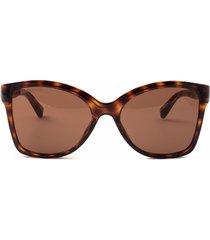 balenciaga balenciaga bb0150s havana sunglasses