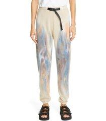 women's john elliott volcano dye belted sweatpants