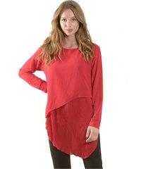 blusa larga italiana rojo bous