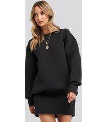 na-kd oversized sweatshirt dress - black