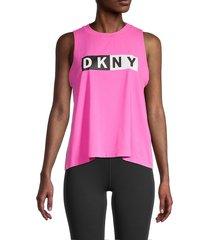 dkny women's logo tank top - rebel - size l