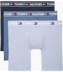tommy hilfiger men's everyday modal boxer brief 3pk navy blazer/vintage indigo/eventide - xxl