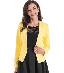 blazer entallado clásico amarillo nicopoly