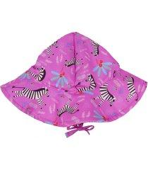 chapéu ecokids place zebra menina rosa