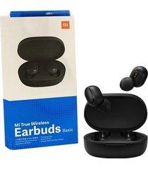 audífonos bluetooth xiaomi earbuds negro