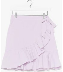 womens time for a shake up ruffle mini skirt - lilac