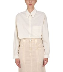 lemaire shirt with pointed collar