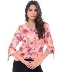 blusa para mujer en poliester multicolor color multicolor talla l