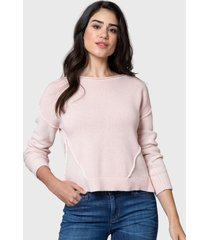 sweater nautica rosa - calce regular