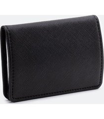 katy covered metal card case - black