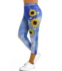 3d print sunflower capri jeggings