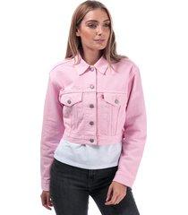 womens cropped trucker jacket