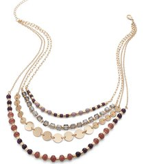 lane bryant women's mixed-bead multi-strand necklace onesz acai purple