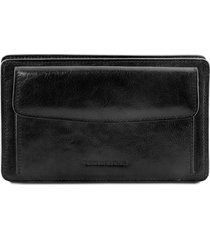 tuscany leather tl141445 denis - esclusivo borsello a mano in pelle nero