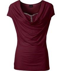 maglia con scollo a cascata (rosso) - bodyflirt