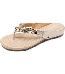sandalias mujer zapatos de estrella  artificial cuero de pu-dorado