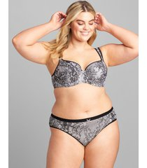 lane bryant women's no-show hipster panty 30/32 chantilly lace