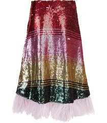 sequin rainbow skirt