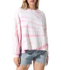 women's electric & rose neil tie dye sweatshirt, size medium - pink