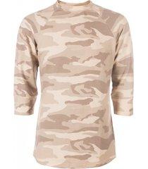 avior zachte sweater 3/4 mouw army beige