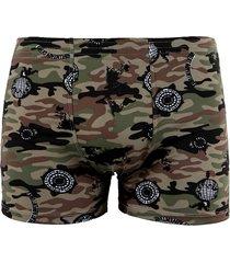 cueca boxer linha noite verde militar