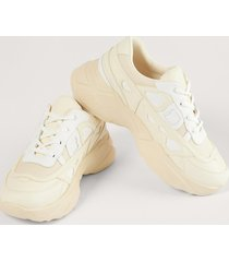na-kd shoes structured upper sneakers - offwhite
