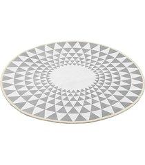 100cm gris triángulo ronda de alfombras alfombras salón área suelo yoga mat - 60cm