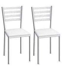 conjunto de cadeiras aço carbono compoarte dallas 2 peças c152