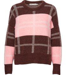 ivanaiw check pullover gebreide trui roze inwear