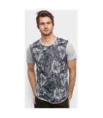 camiseta squadrow long sublimada folha masculina