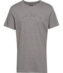 classic logo tee t-shirts short-sleeved grå hackett