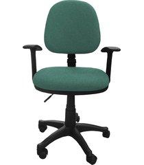 silla oficina lizza media turquesa con brazos  ref: 2008