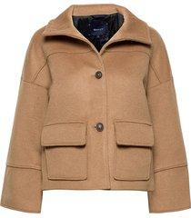 d1. wool blend cropped jacket wollen jack jack beige gant