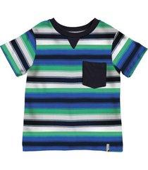camiseta felipe rayas verde