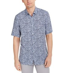 alfani men's bond paint print shirt, created for macy's