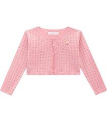 bolero tricot milon rosa - tricae