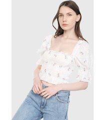 blusa blanco-multicolor forever 21