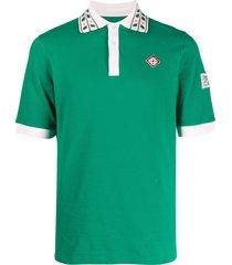 casablanca decorative-collar polo shirt - green