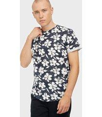 solid jaron ss aop t-shirt t-shirts & linnen insignia blue