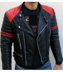 men black and red leather jacket with quality leather jacket, men leather jacket