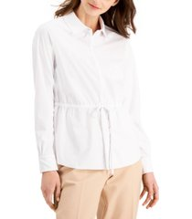 alfani button-front knit top, created for macy's