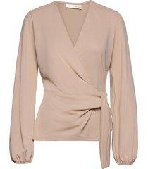 catjaiw blouse blouse lange mouwen beige inwear