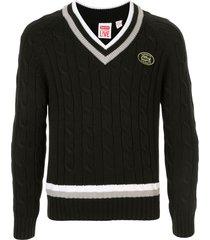 supreme x lacoste tennis sweater - black