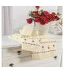 jogo de banho bordado felicitá marfim vilela enxovais 5 peças