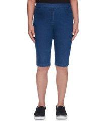 alfred dunner women's missy classics allure bermuda denim shorts