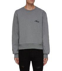 bone print sleeve sweatshirt