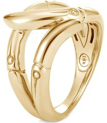 'bamboo' 18k gold ring