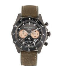 tommy bahama men's atlantis diver multi leather strap watch, 44mm